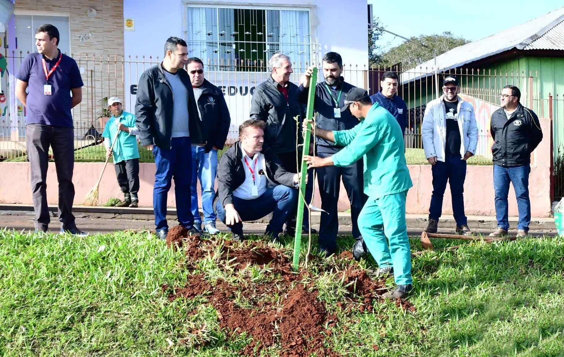 """Governo Municipal e RGE retomam programa """"Arborização mais segura"""""""