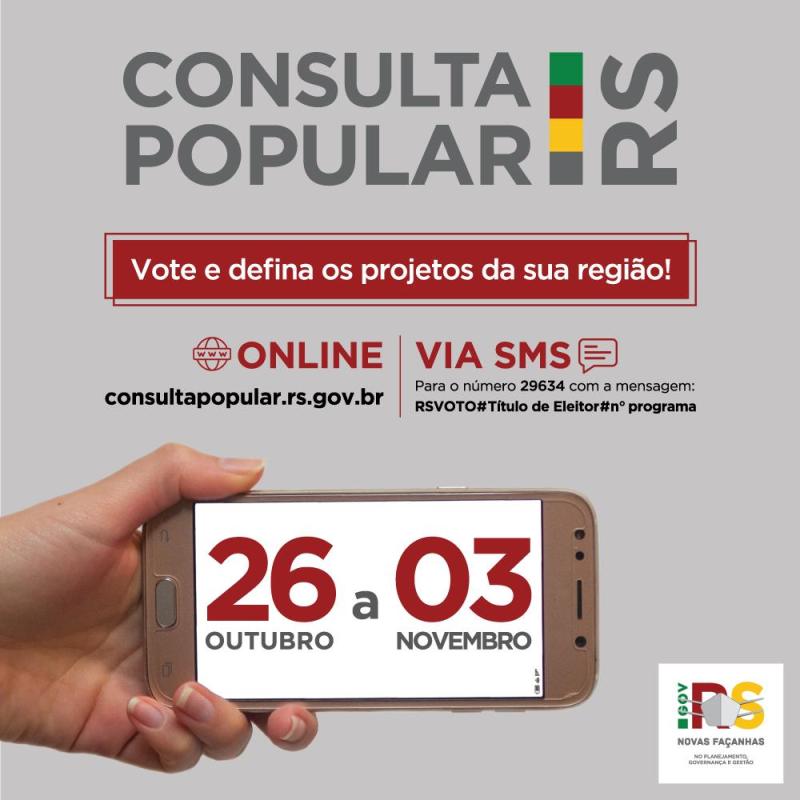 Votação da Consulta Popular acontecerá até dia 3 de novembro