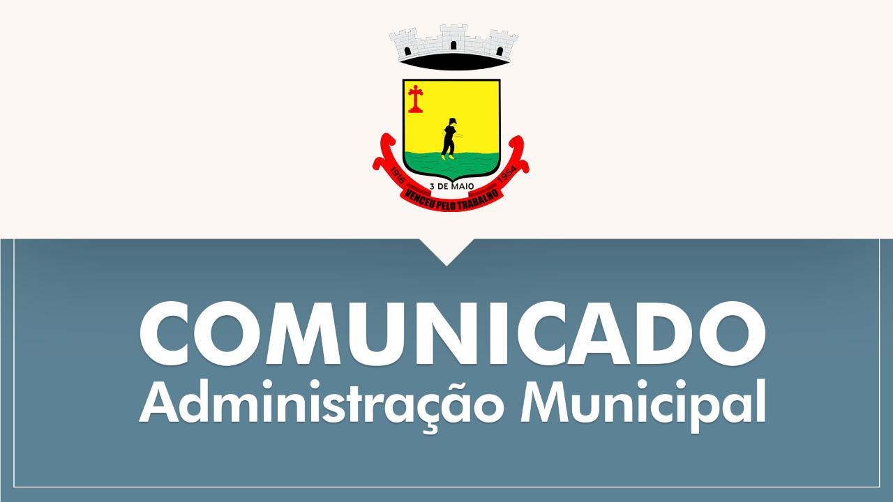 REPARTIÇÕES PÚBLICAS MUNICIPAIS ADOTAM PONTO FACULTATIVO NO DIA 6 DE SETEMBRO