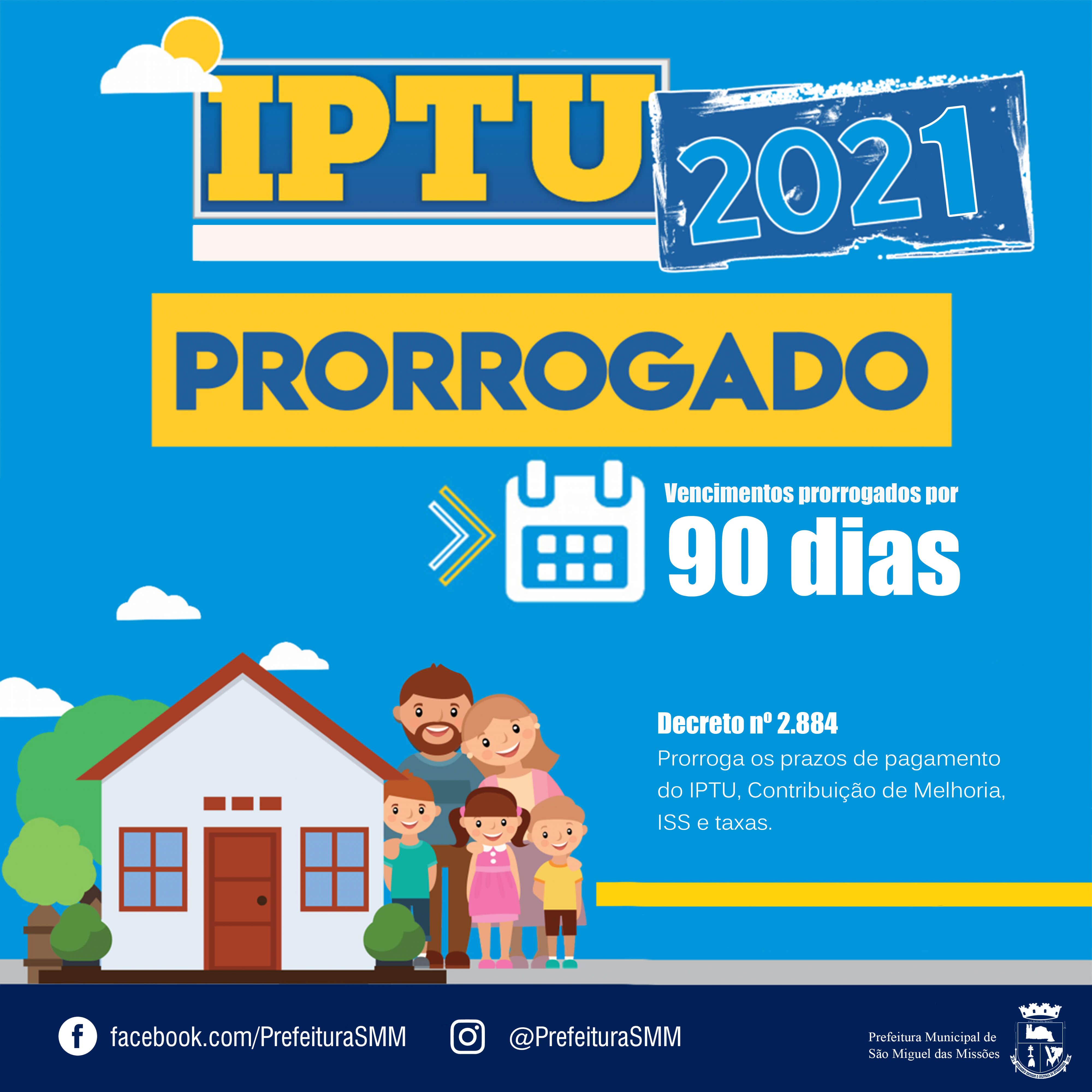 Prorrogação do IPTU