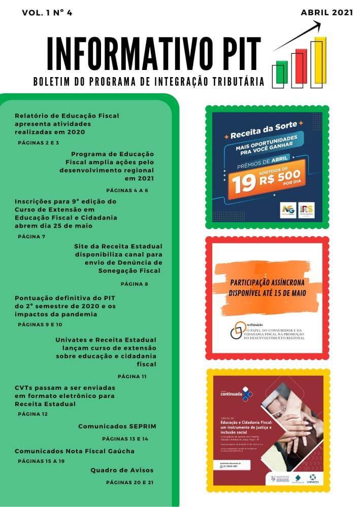 Informativo PIT nº 4 - Abril/2021