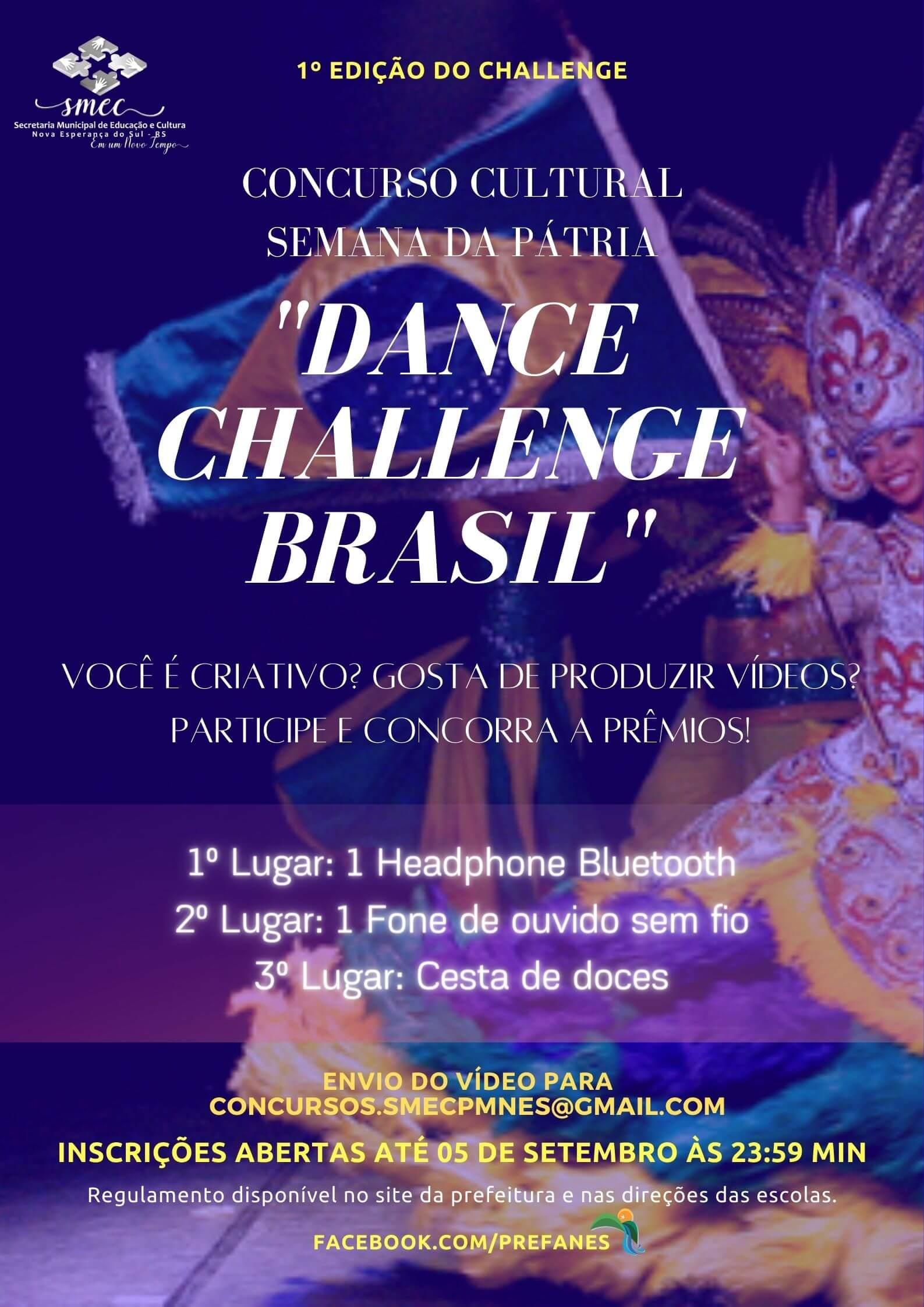 "1º Concurso Cultural ""Dance Challenge Brasil"""