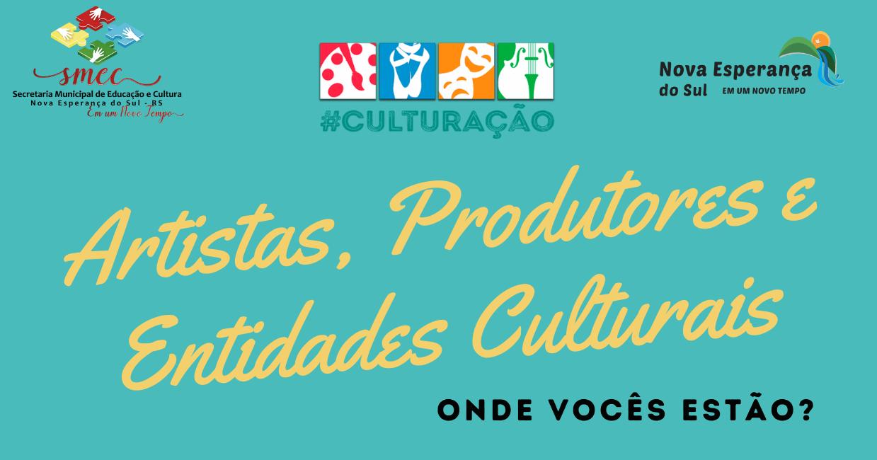 Está aberto o Edital nº 1 de 7 de Setembro de 2021 referente ao Cadastro e Recadastro de Artistas, Produtores e Entidades Culturais do município de Nova Esperança do Sul.